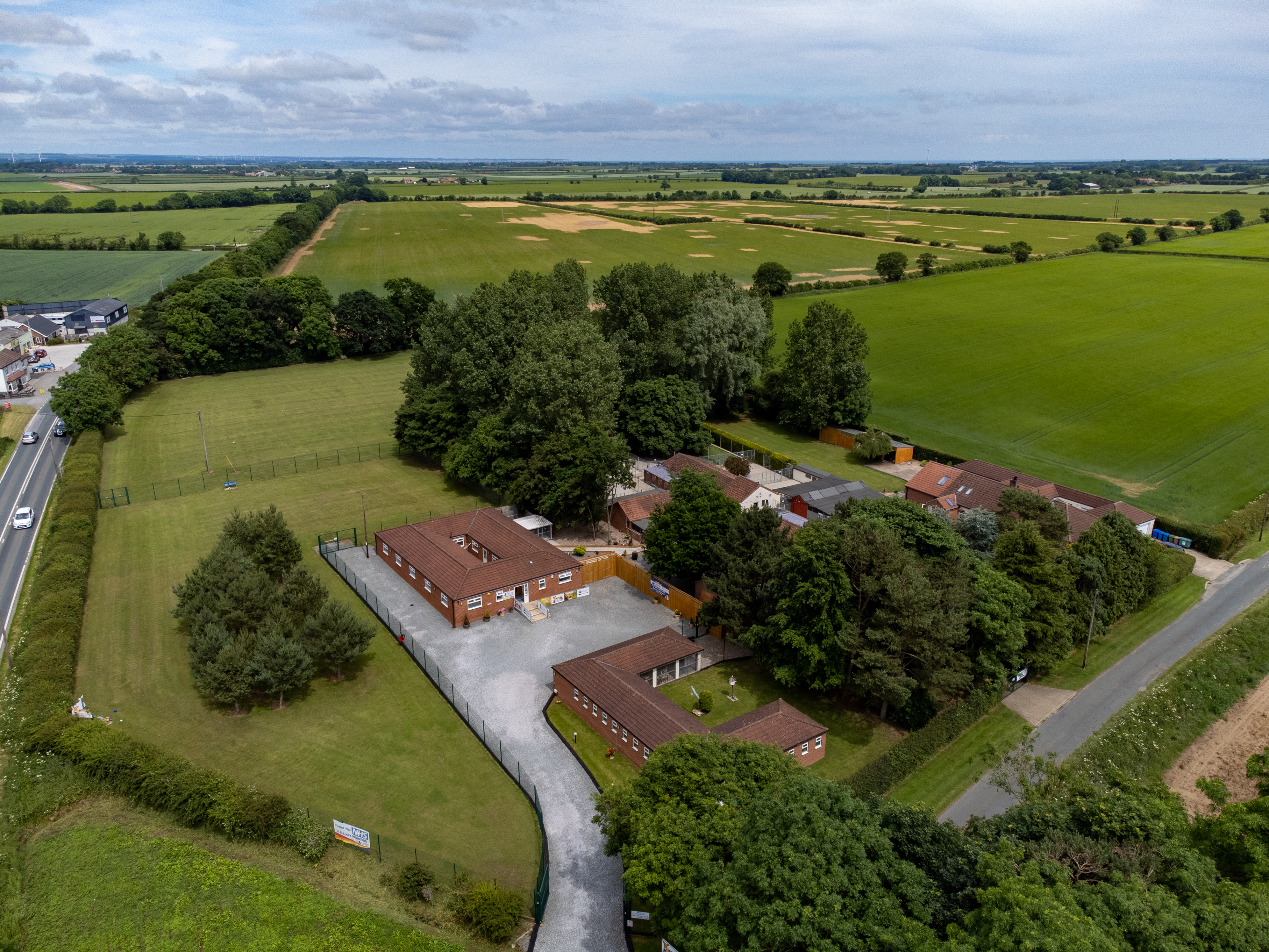 Warley Cross Kennels and Cattery From The Air